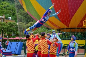 Acrobat Performance at Oceanside Park, Hong Kong