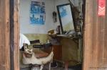 A vintage barber shop still in operation in Tong Li, Wujiang, China