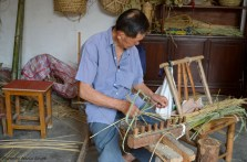 Basket Weaver in Zhou Zhuang, China