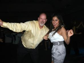 Happy - To watch my husband dance the night away with our oldest daughter