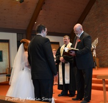 Happy - To hear my husband deliver the homily in our son's wedding.