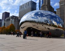 Side view of The Bean. Lot's of photo opportunities!