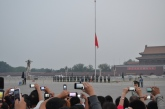 Flag raising ceremony at Tiananman Square