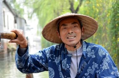 Gondola boat handler - Humble Administrators Garden, Suzhou China