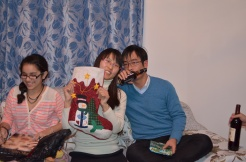 Xiaopei & Frnak with their stocking.