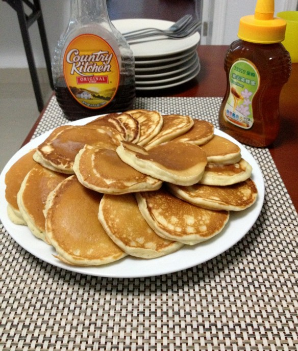 Our Sunday's almost always start off with pancakes. They are a family favorite and when dad makes them, they are especially good.