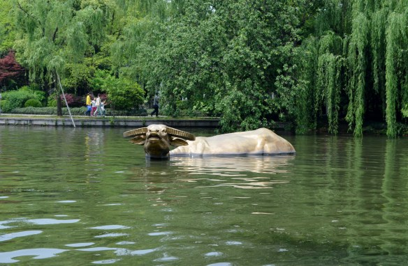 Golden Buffalo Emerging From West Lake - Hangzhou China