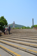 The stairs were thankfully spread apart and evenly distributed so that it was easy to climb.