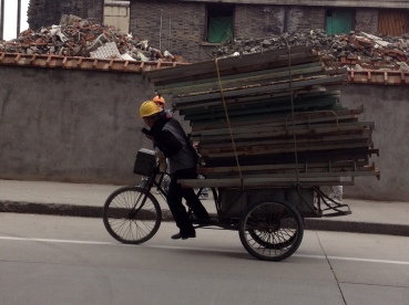 I've shared this photo before, think of the weight this guy is peddling uphill.